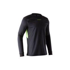 Koszulka bramkarska F100. Czarne bluzki z długim rękawem męskie KIPSTA, z materiału. Za 49.99 zł.
