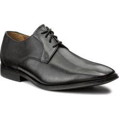Półbuty CLARKS - Gliman Lace 261276547 Black Leather. Czarne eleganckie półbuty Clarks, z materiału. W wyprzedaży za 279.00 zł.