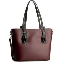 Torebka CREOLE - K10311 Bordowy/Czarny. Czerwone torebki do ręki damskie Creole, ze skóry. W wyprzedaży za 229.00 zł.