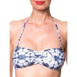 """Biustonosz bikini """"Siramisu"""" w kolorze niebiesko-białym. Biustonosze Brunotti. W wyprzedaży za 56.95 zł."""