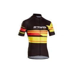 Koszulka krótki rękaw na rower ROADCYCLING 900 Belgia męska. Czarne koszulki sportowe męskie B'TWIN, z elastanu, z krótkim rękawem. Za 169.99 zł.