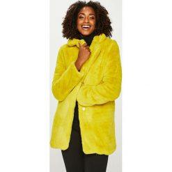 Answear - Płaszcz. Żółte płaszcze damskie ANSWEAR. Za 299.90 zł.