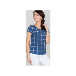 Bluzka K422 Wzór 42. Szare bluzki damskie Lenitif, retro, z krótkim rękawem. Za 99.00 zł.