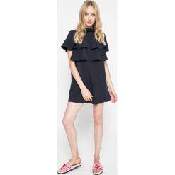 Missguided - Sukienka. Szare sukienki damskie Missguided, z elastanu, casualowe, z golfem. W wyprzedaży za 89.90 zł.