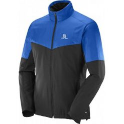 Salomon Kurtka Escape Jkt M Blue Yonder/Black Xl. Czarne kurtki sportowe męskie Salomon, na zimę, z materiału. W wyprzedaży za 399.00 zł.