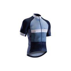 Koszulka krótki rękaw na rower szosowy ROADRACING 500 męska. Niebieskie koszulki sportowe męskie B'TWIN, z elastanu, z krótkim rękawem. W wyprzedaży za 149.99 zł.