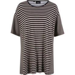T-shirt z opuszczanymi ramionami bonprix czarno-kamienisty. T-shirty damskie marki DOMYOS. Za 69.99 zł.