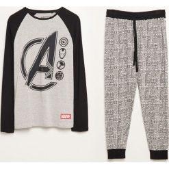 Piżama dwuczęściowa ze spodniami Marvel - Szary. Szare piżamy męskie Reserved, z motywem z bajki. Za 99.99 zł.