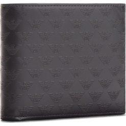 Duży Portfel Męski EMPORIO ARMANI - YEM176 YC043 80001 Black. Czarne portfele męskie Emporio Armani, ze skóry. W wyprzedaży za 449.00 zł.