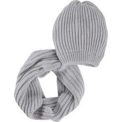 Komplet 2-częściowy: czapka beanie + szalik koło bonprix szary. Czapki i kapelusze damskie marki WED'ZE. Za 59.99 zł.