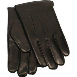 Rękawiczki męskie. Czarne rękawiczki męskie Gino Rossi, ze skóry. Za 229.90 zł.