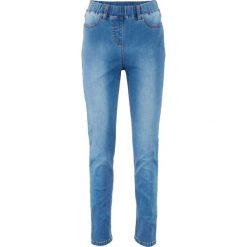 """Legginsy dżinsowe power-stretch z wysoką talią bonprix niebieski """"stone"""". Niebieskie legginsy damskie bonprix, z jeansu. Za 139.99 zł."""