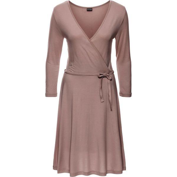 69bbc8f2a0 Sukienka z dżerseju bonprix dymny różowy - Czerwone sukienki damskie ...