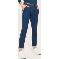 Spodnie typu chino - Niebieski. Niebieskie spodnie materiałowe damskie House. Za 89.99 zł.