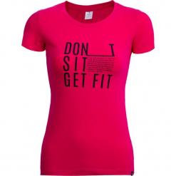 T-shirt damski TSD607 - ciemny róż - Outhorn. Czerwone t-shirty damskie Outhorn. W wyprzedaży za 29.99 zł.