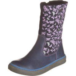 Skórzane kozaki w kolorze granatowym. Buty zimowe dziewczęce Zimowe obuwie dla dzieci. W wyprzedaży za 172.95 zł.