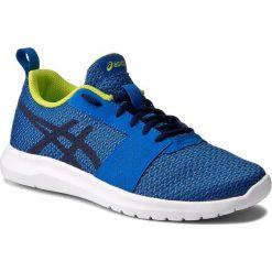 Buty ASICS - Kanmei Gs C745N Directoire Blue/Peacoat/Energy Green 4358. Niebieskie obuwie sportowe damskie Asics, z materiału. W wyprzedaży za 149.00 zł.