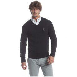 Polo Club C.H..A Sweter Męski Xxl Czarny. Czarne swetry przez głowę męskie Polo Club C.H..A, dekolt w kształcie v. W wyprzedaży za 259.00 zł.