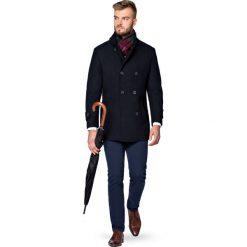 Płaszcz Granatowy Embrace. Niebieskie płaszcze męskie LANCERTO, na jesień, z tkaniny. Za 799.90 zł.
