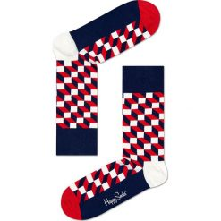Happy Socks - Skarpety Filled Optic. Szare skarpety męskie Happy Socks, z bawełny. W wyprzedaży za 29.90 zł.