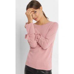 Sweter z fakturą i wiązaniem. Czerwone swetry damskie Orsay, z dzianiny. Za 79.99 zł.