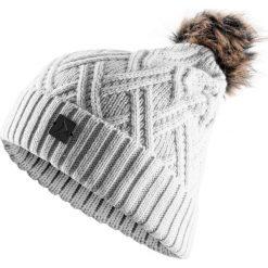 Czapka damska CAD603 - ciepły jasny szary - Outhorn. Szare czapki i kapelusze damskie Outhorn, z materiału. Za 29.99 zł.