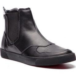 Sztyblety TRUSSARDI JEANS - 77A00100 K299. Czarne botki męskie TRUSSARDI JEANS, z jeansu. Za 579.00 zł.