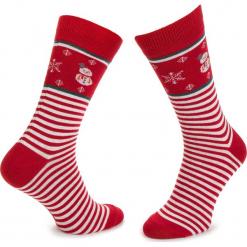 Skarpety Wysokie Męskie DOTS SOCKS - DTS-SX-104-X Biały Czerwony. Białe skarpety męskie Dots Socks, z bawełny. Za 19.90 zł.