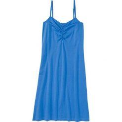 Koszula nocna na cienkich ramiączkach. bonprix lodowy niebieski. Niebieskie koszule nocne damskie bonprix. Za 34.99 zł.