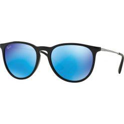 Ray-Ban - Okulary Erika. Niebieskie okulary przeciwsłoneczne męskie Ray-Ban, z materiału. Za 499.90 zł.