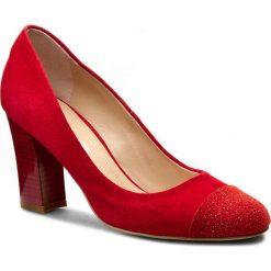 Półbuty SOLO FEMME - 97604-01-G23/G13-04-00 Czerwony. Czerwone półbuty damskie Solo Femme, z materiału, eleganckie. W wyprzedaży za 189.00 zł.