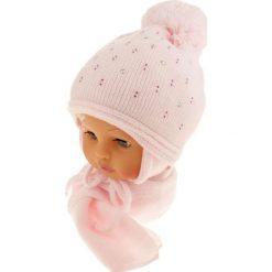 Czapka dziecięca z szalikiem CZ+S 129C różowa. Czapki dla dzieci marki Reserved. Za 50.15 zł.