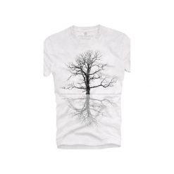 T-shirt UNDERWORLD Ring spun cotton Drzewo. Białe t-shirty męskie Underworld, z nadrukiem, z bawełny. Za 59.99 zł.