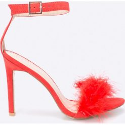 Public Desire - Sandały. Czerwone sandały damskie Public Desire, z materiału. W wyprzedaży za 99.90 zł.