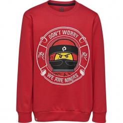 Bluza w kolorze czerwonym. Czerwone bluzy dla chłopców marki Lego Wear Fashion, z nadrukiem, z bawełny. W wyprzedaży za 45.95 zł.