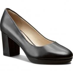 Półbuty CLARKS - Kelda Hope 261235544 Black Leather. Czarne półbuty damskie Clarks, z materiału, eleganckie. W wyprzedaży za 269.00 zł.