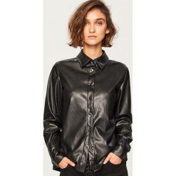 Koszula z imitacji skóry - Czarny. Czarne koszule damskie Reserved, ze skóry. Za 119.99 zł.