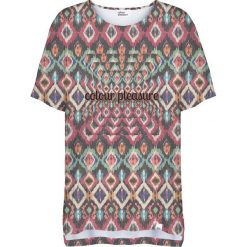 Colour Pleasure Koszulka damska CP-033 263 fioletowo-zielona r. uniwersalny. Bluzki damskie Colour Pleasure. Za 76.57 zł.