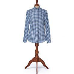Koszula w Kratę Square. Niebieskie koszule męskie LANCERTO, na zimę, w kratkę, z bawełny, button down. W wyprzedaży za 249.00 zł.