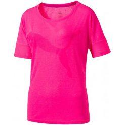 Puma Koszulka Sportowa Heather Cat Tee Pink Heather L. Brązowe koszulki sportowe damskie Puma, z materiału. W wyprzedaży za 105.00 zł.