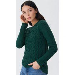 Sweter z warkoczami - Khaki. Brązowe swetry damskie House. Za 79.99 zł.