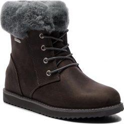 Śniegowce EMU AUSTRALIA - Shoreline Leather Lo W11588 Charcoal/Anthracite. Szare kozaki damskie Emu Australia, z nubiku. Za 859.00 zł.