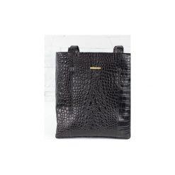 Skórzana Shopper Mudiwa czarny krokodyl. Czarne torebki shopper damskie Fabiola, ze skóry. Za 300.00 zł.