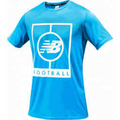 Koszulka treningowa MT833017PLR. Niebieskie koszulki sportowe męskie New Balance, z materiału. Za 129.99 zł.