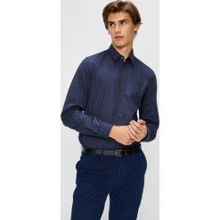 Trussardi Jeans - Koszula. Niebieskie koszule męskie TRUSSARDI JEANS, z bawełny, z klasycznym kołnierzykiem, z długim rękawem. W wyprzedaży za 299.90 zł.