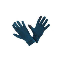 Rękawiczki do biegania. Niebieskie rękawiczki damskie KALENJI, na zimę, z elastanu. Za 19.99 zł.