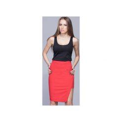 Asymetryczna elegancka spódnica czerwona   H018. Szare spódnice damskie Harmony, biznesowe. Za 134.00 zł.
