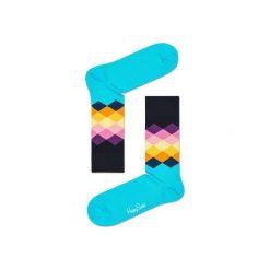 Skarpetki Happy Socks FAD01-7000. Brązowe skarpety męskie Happy Socks, z bawełny. Za 24.43 zł.