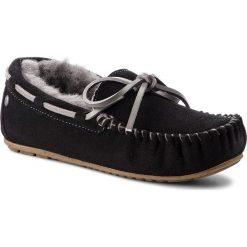 Kapcie EMU AUSTRALIA - Amity W10555 Black/Charcoal. Czarne kapcie damskie Emu Australia, ze skóry. Za 429.00 zł.