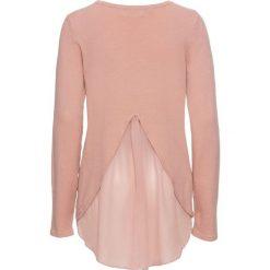 Sweter z szyfonową wstawką bonprix stary jasnoróżowy. Swetry damskie marki KALENJI. Za 89.99 zł.